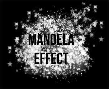 Mandela Effect - Black background graphic for t-shirts