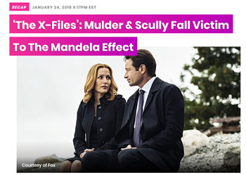 X-Files - Mulder & Scully fall victim to the Mandela Effect